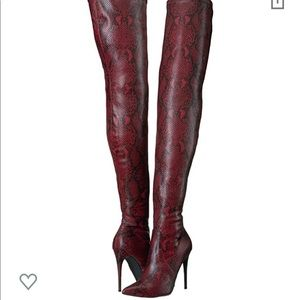 Steve Madden Red Snake Fashion Boots
